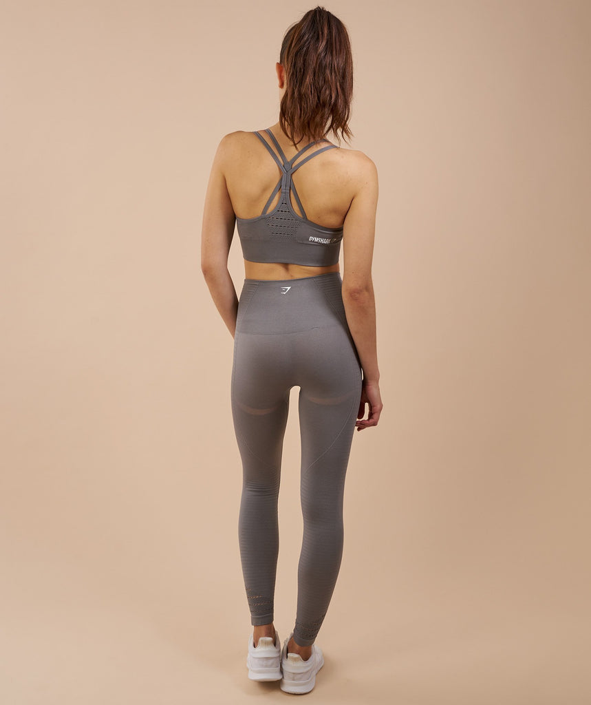 Gymshark Seamless Cross Back Sports Bra - Slate Grey