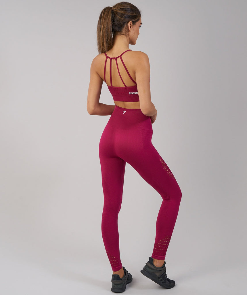 Gymshark Energy Seamless Sports Bra - Beet