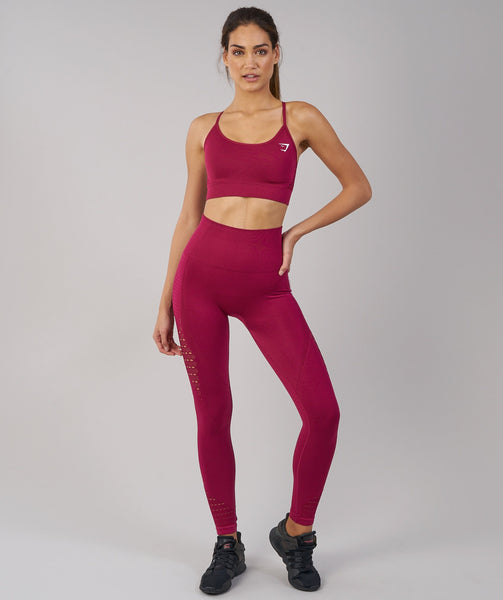 Gymshark Energy Seamless Sports Bra - Beet 2