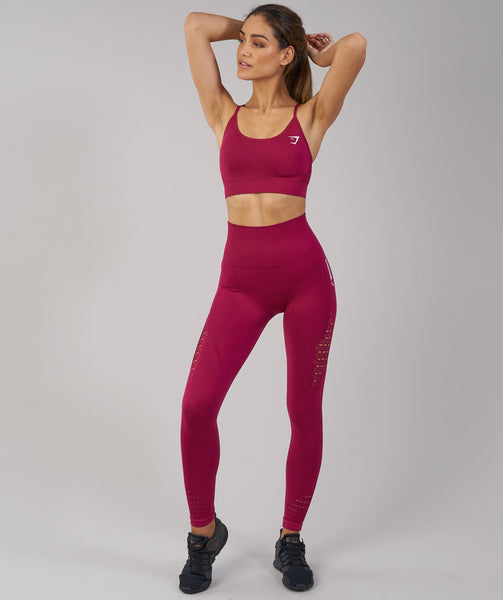 Gymshark Energy Seamless Sports Bra - Beet 4