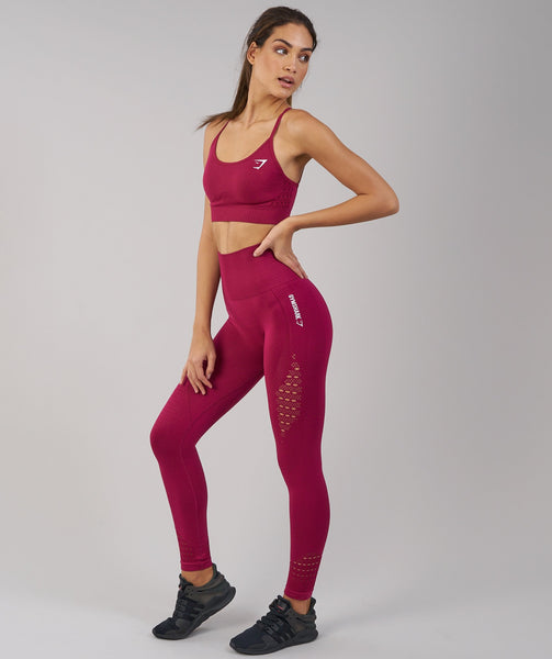 Gymshark Energy Seamless Sports Bra - Beet 3