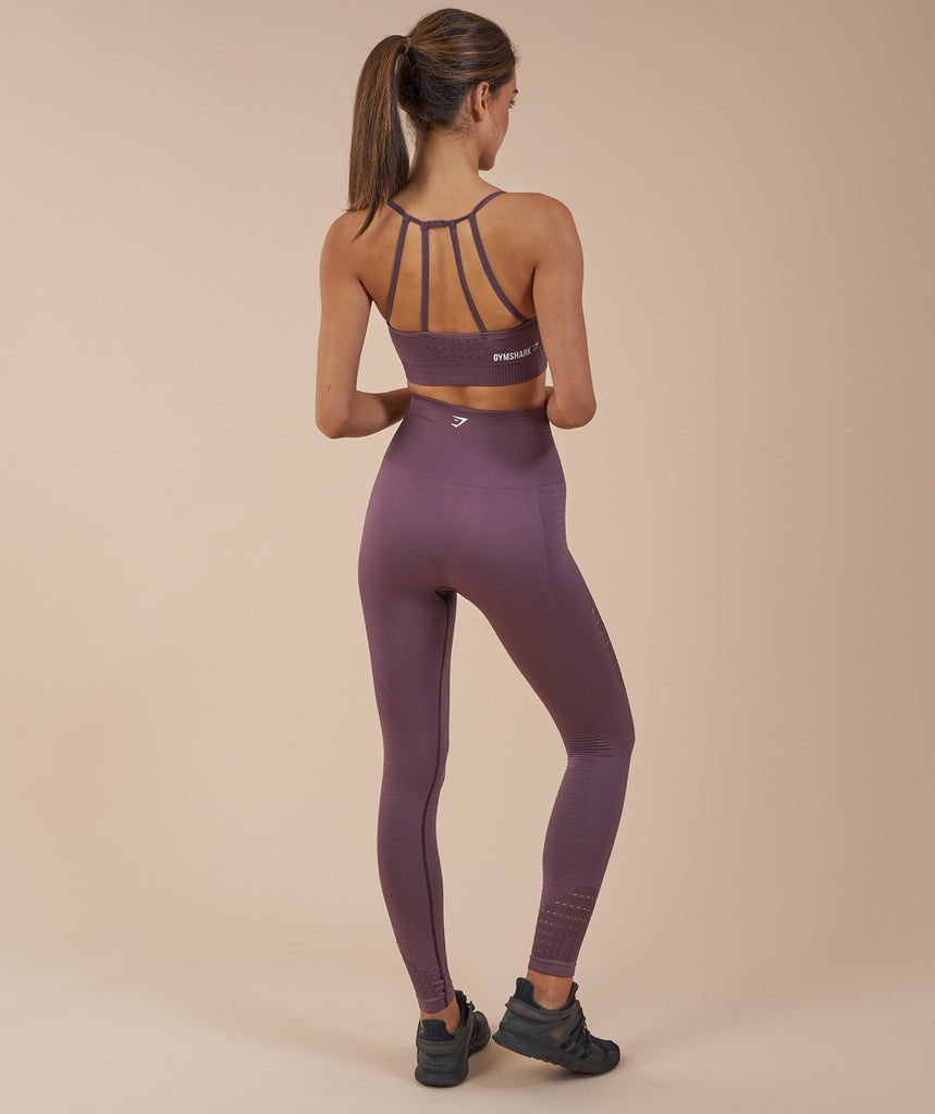 Gymshark Energy Seamless Sports Bra - Purple Wash