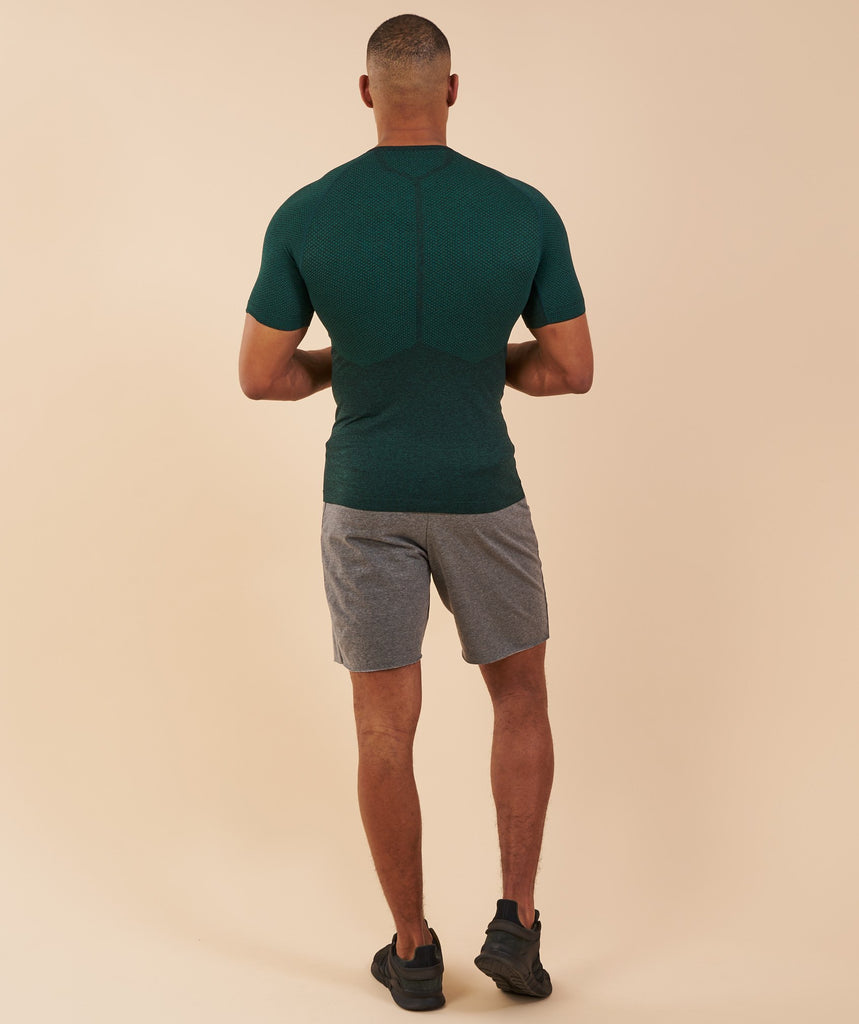 Gymshark Performance Seamless T-Shirt - Forest Green Marl
