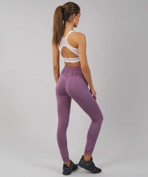Gymshark Solace Bottoms - Purple Wash Marl 1