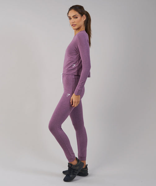 Gymshark Solace Sweater - Purple Wash Marl 2