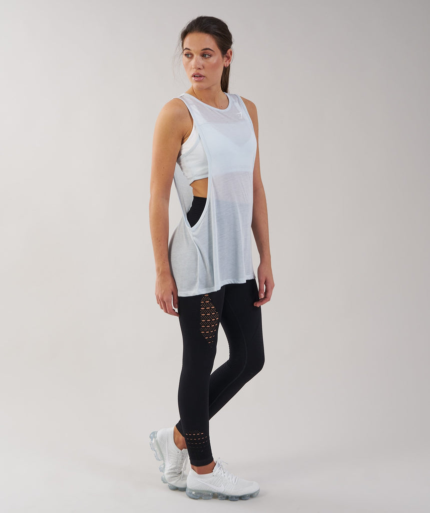 Gymshark Two in One Tank - Ice Blue 5