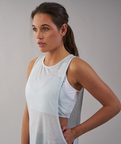 Gymshark Two in One Tank - Ice Blue 1