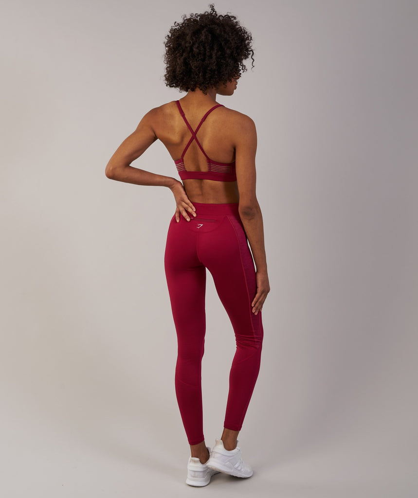 Gymshark Winter Running Leggings - Beet