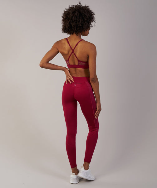 Gymshark Winter Running Leggings - Beet 1