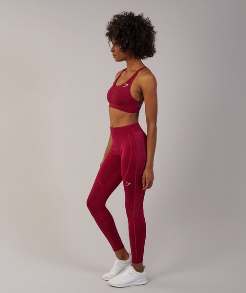Gymshark Winter Running Leggings - Beet 3