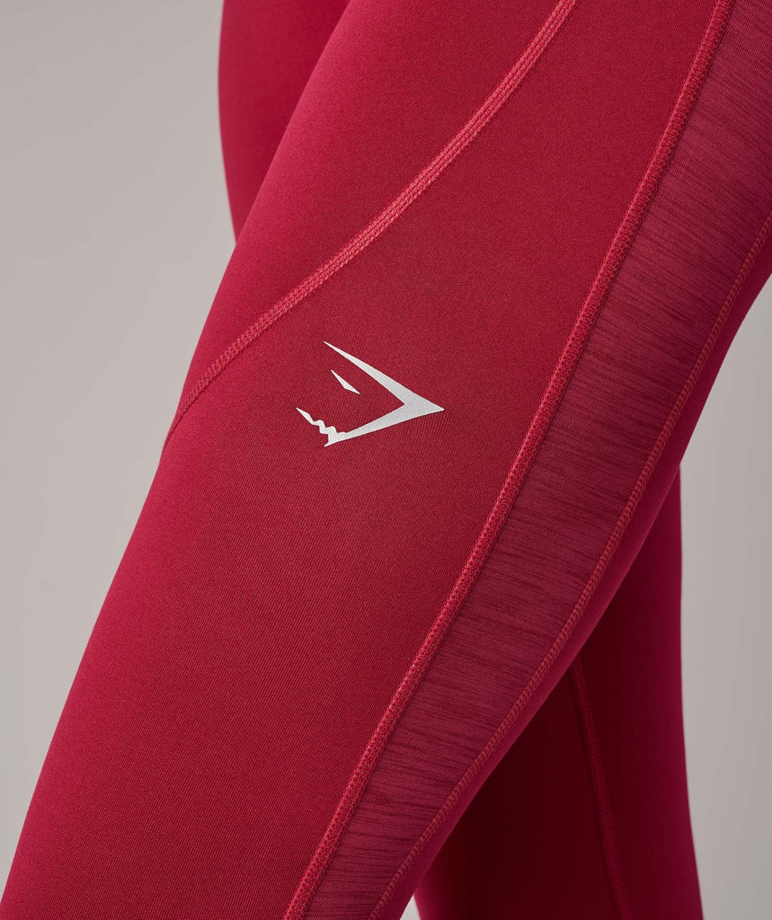 Gymshark Winter Running Leggings - Beet 5