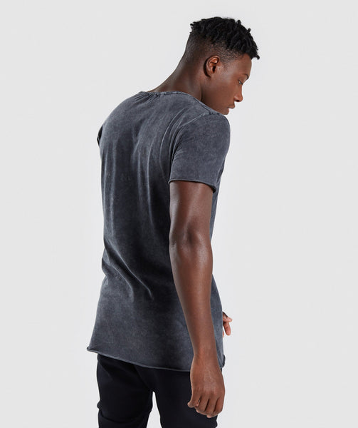 Gymshark Acid Wash T-Shirt - Black 1