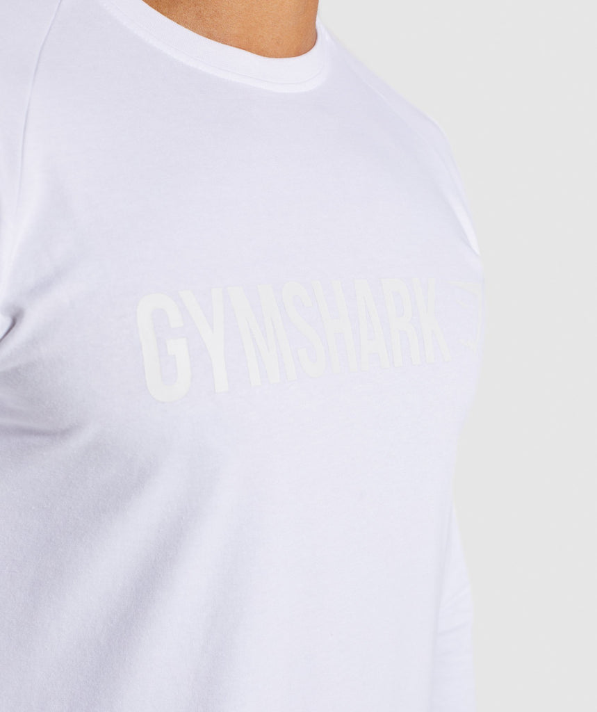 Gymshark Apollo Long Sleeve T-Shirt - White 5