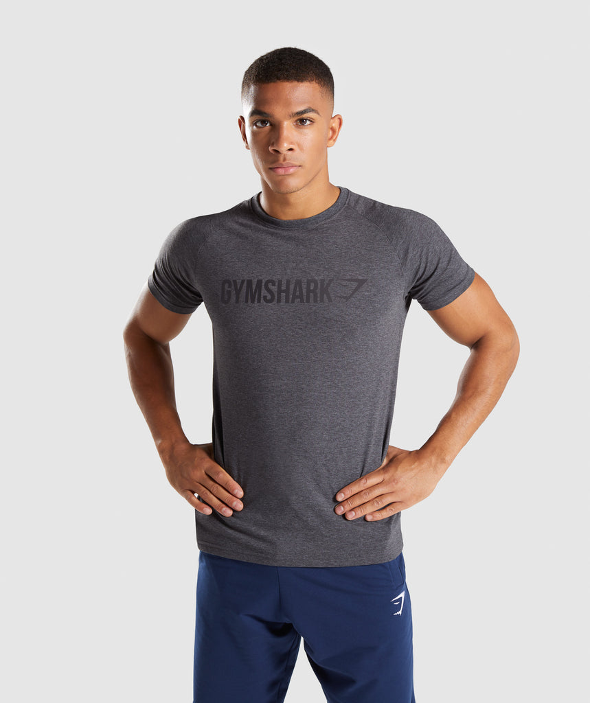 Gymshark Apollo T-Shirt - Charcoal Marl 1