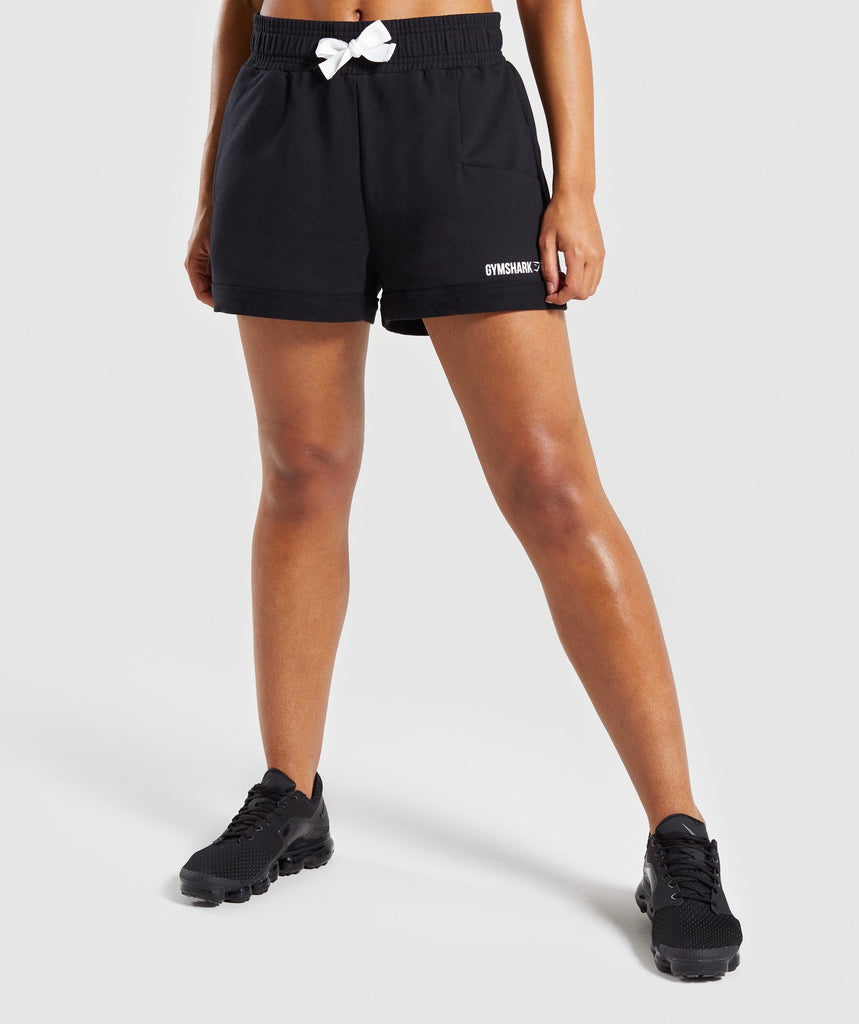 Gymshark Ark High Waisted Shorts - Black 1