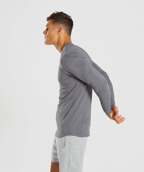 Gymshark Ark Long Sleeve T-Shirt - Smokey Grey 2