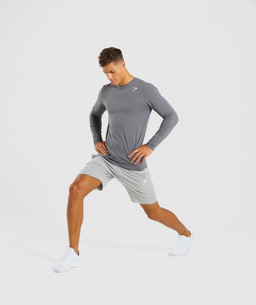 Gymshark Ark Long Sleeve T-Shirt - Smokey Grey 5