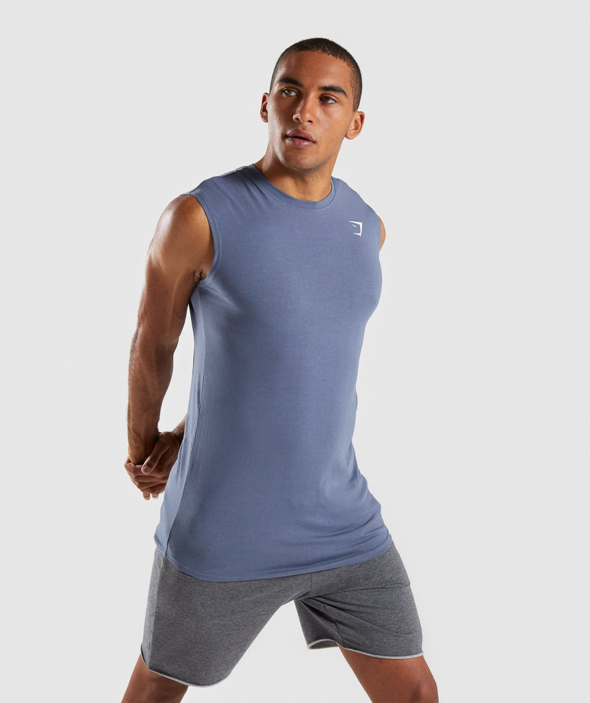 Gymshark Ark Sleeveless T-Shirt - Aegean Blue 1