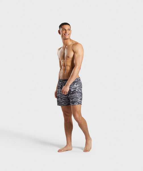 Gymshark Atlantic Swim Shorts - Grey Camo 3
