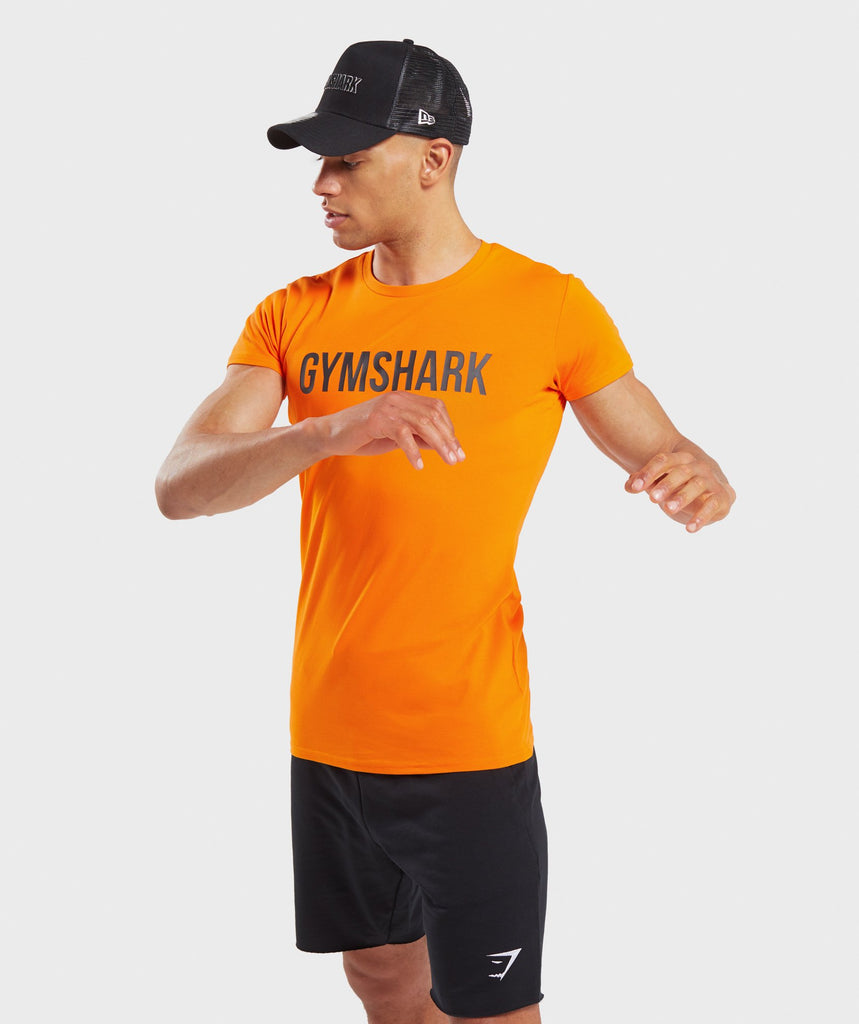 Gymshark Base T-Shirt - Orange 1