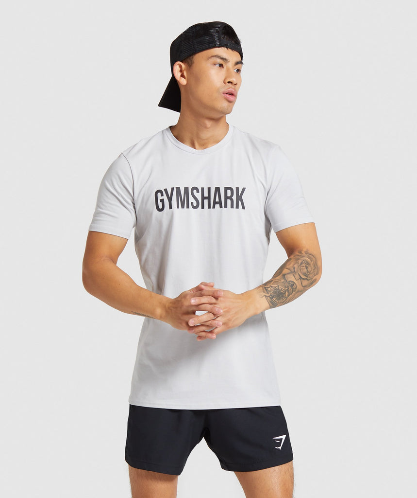 Gymshark Base T-shirt - Platinum Grey 1