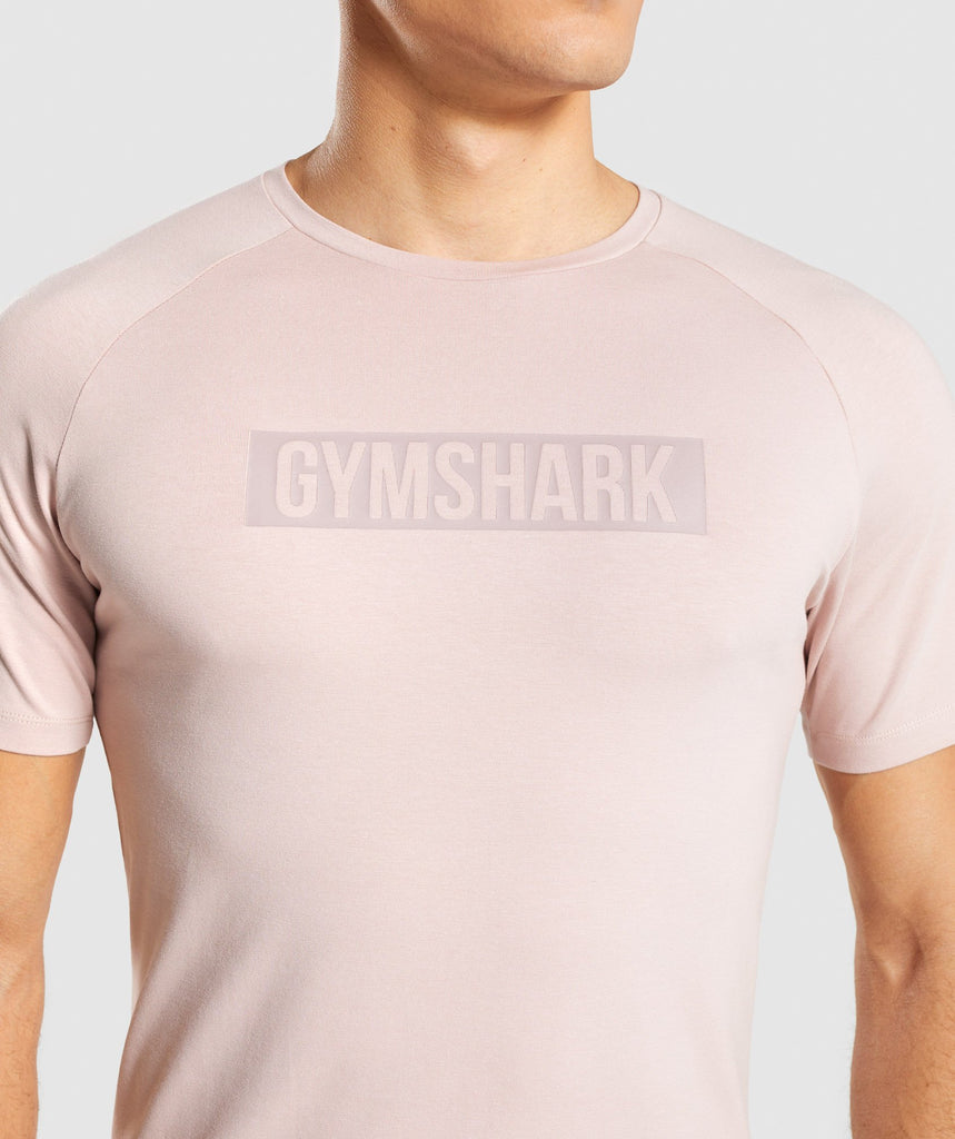Gymshark Block T-Shirt - Chalk Nude 5