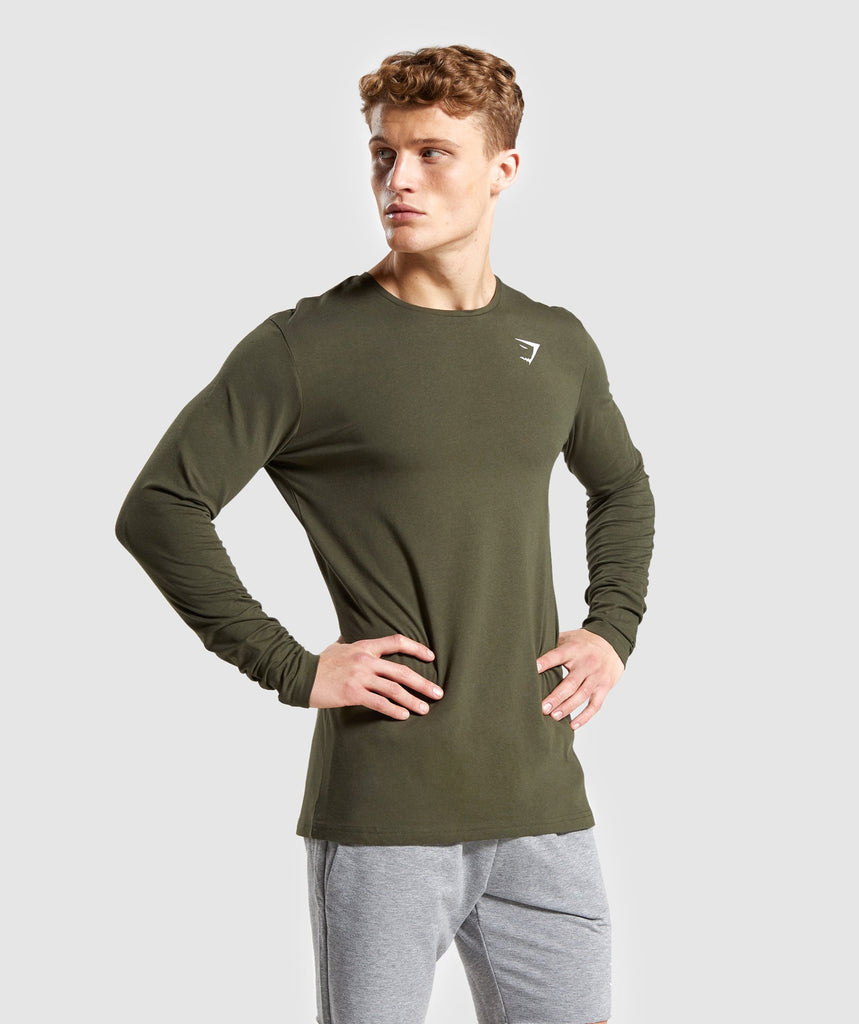 Gymshark Critical Long Sleeve T-Shirt - Dark Green 1