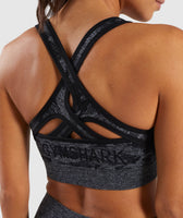 Gymshark Camo Seamless Sports Bra - Black 11