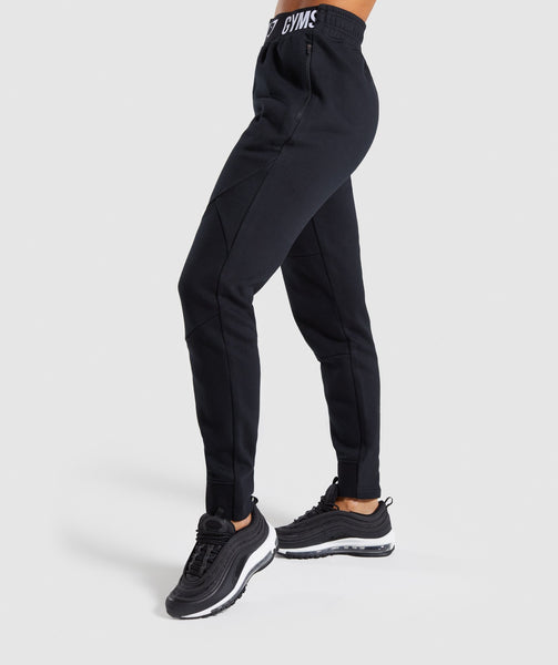 Gymshark Comfy Tracksuit Bottoms - Black 4