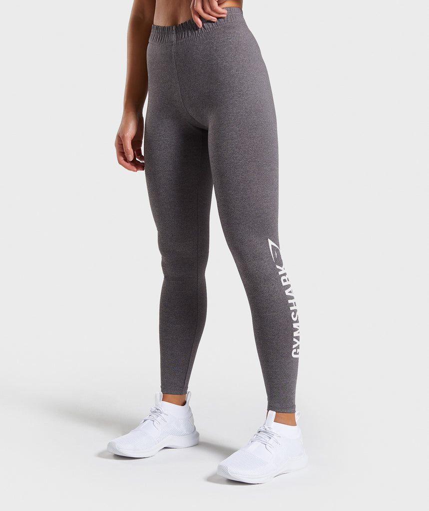 Gymshark Core Leggings - Charcoal Marl 1
