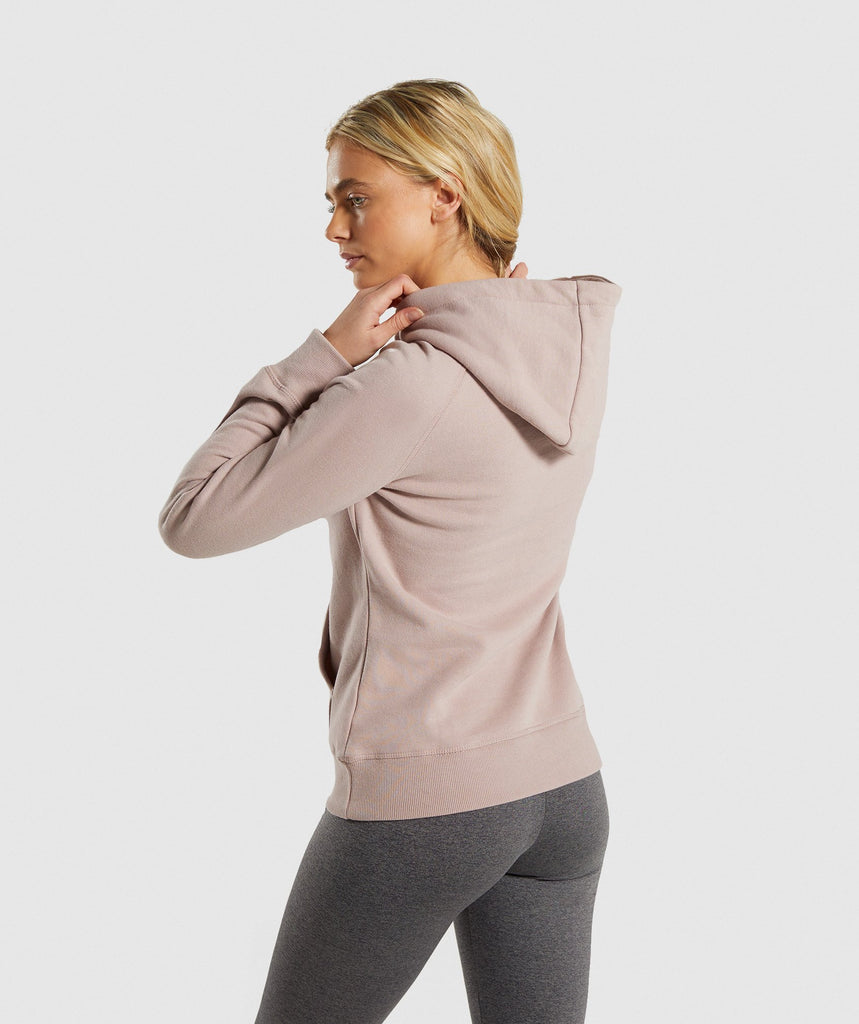 Gymshark Crest Hoodie - Taupe 2