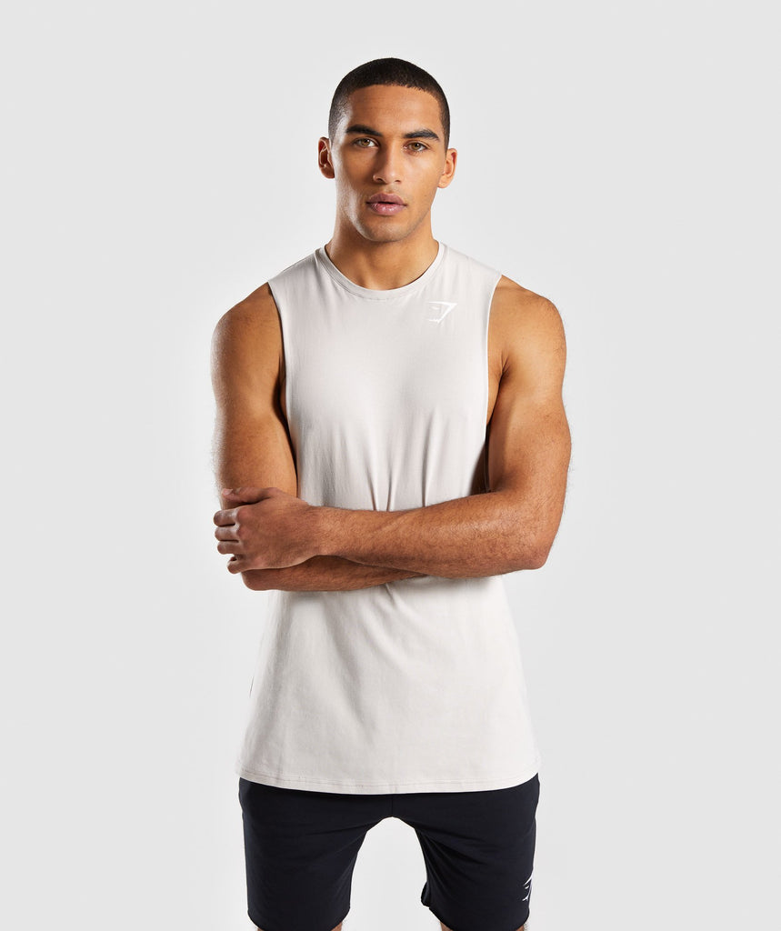 Gymshark Critical Drop Armhole Tank - Grey 1
