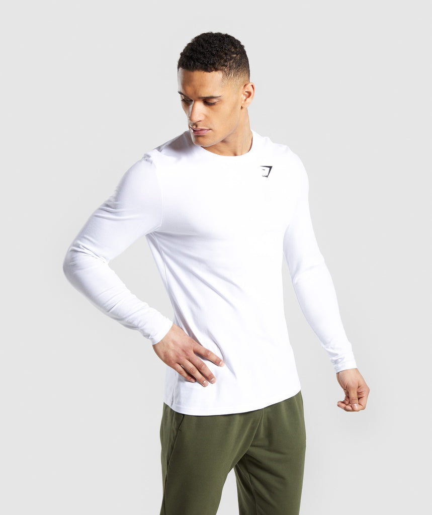 Gymshark Critical Long Sleeve T-Shirt - White 1