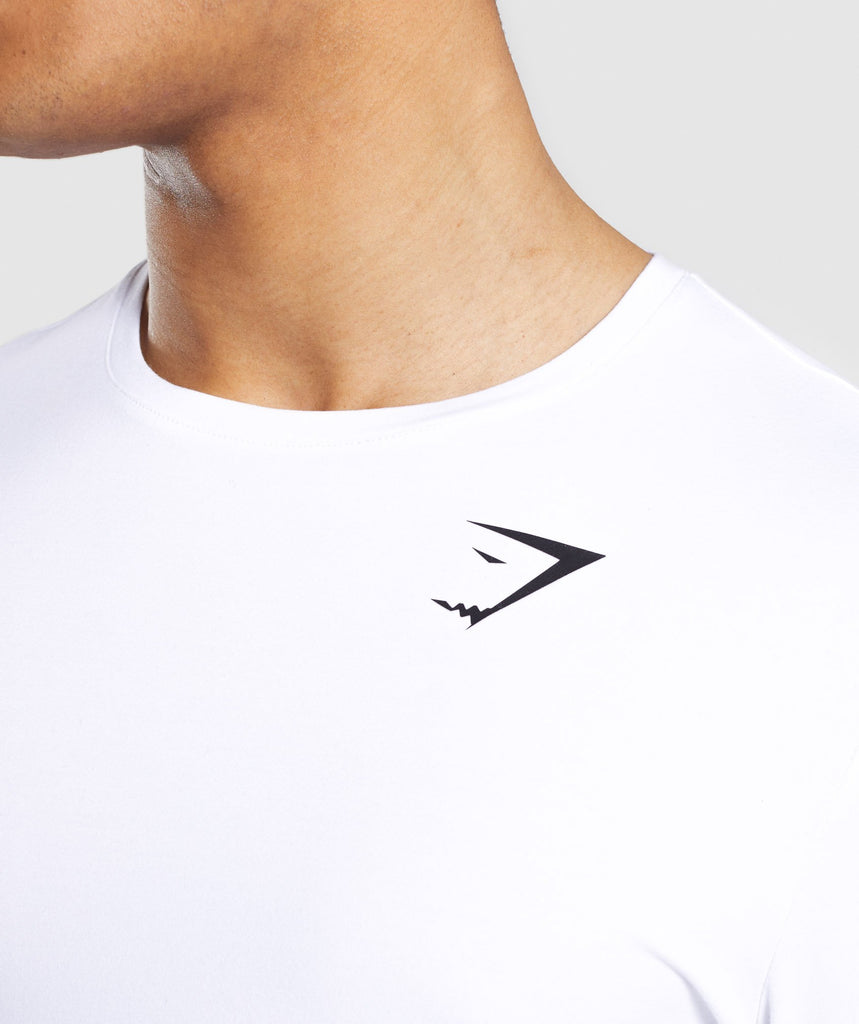 Gymshark Critical Long Sleeve T-Shirt - White 6