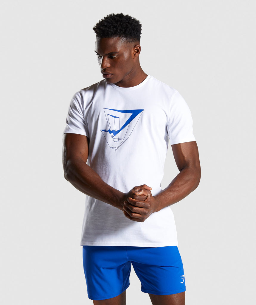 Gymshark Dimension T-Shirt - White 1