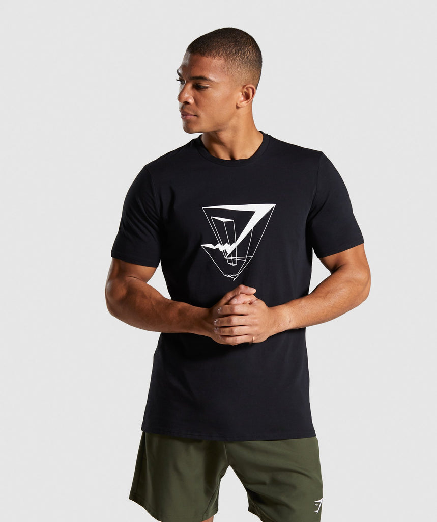 Gymshark Dimension T-Shirt - Black 1