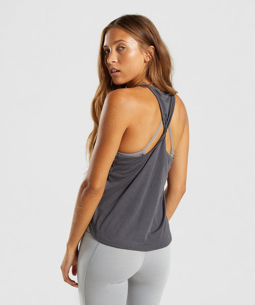 Gymshark Distort Palm Vest - Charcoal 1