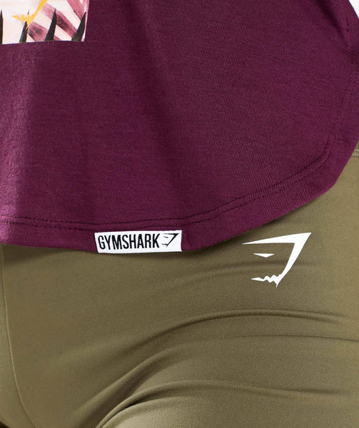 Gymshark Distort Palm Vest - Dark Ruby 4