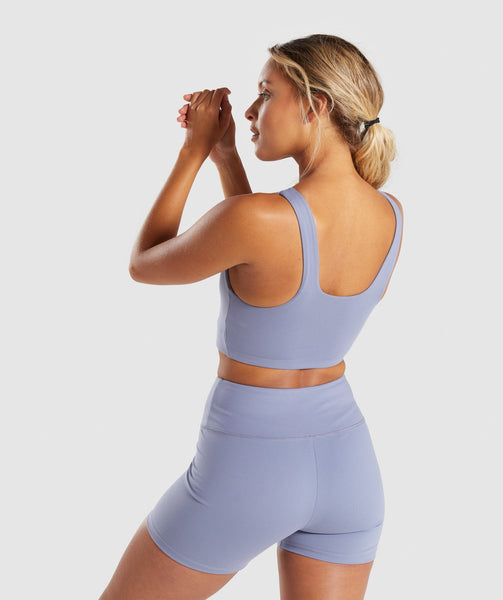 Gymshark Dreamy Sports Bra - Steel Blue 1