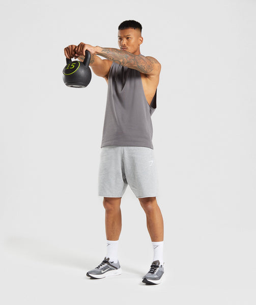 Gymshark Drop Arm Sleeveless Hoodie - Smokey Grey 3