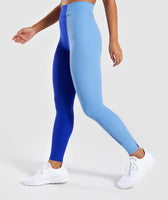 Gymshark Duo Leggings - Cobalt/Blue 9