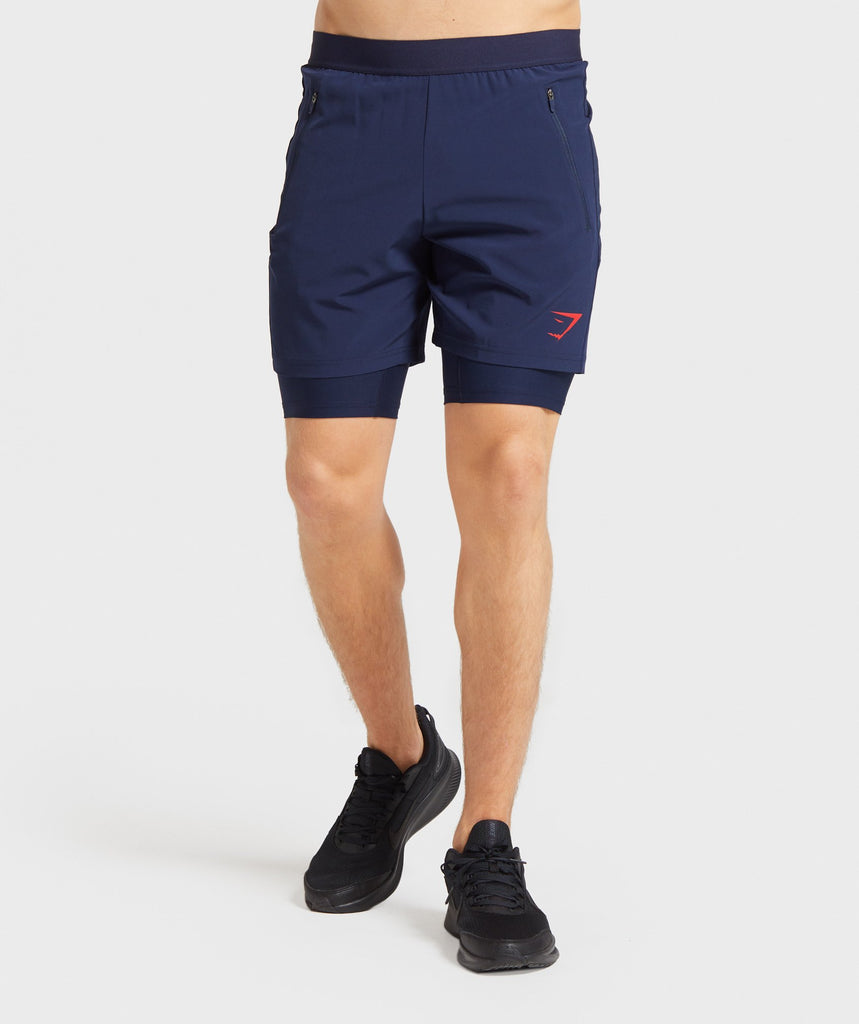 Gymshark Element Hiit 2 in 1 Shorts - Dark Blue 1