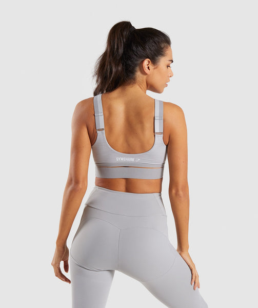 Gymshark Embody Sports Bra - Light Grey Marl 1