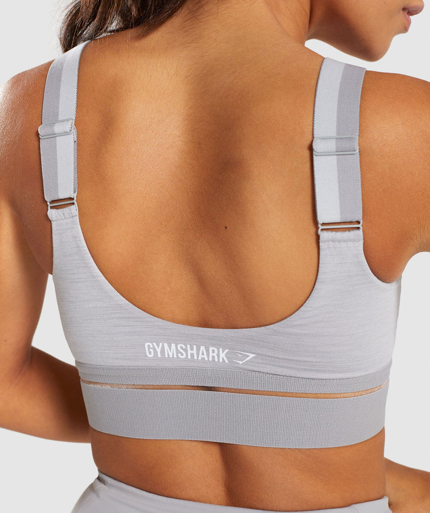 Gymshark Embody Sports Bra - Light Grey Marl 5