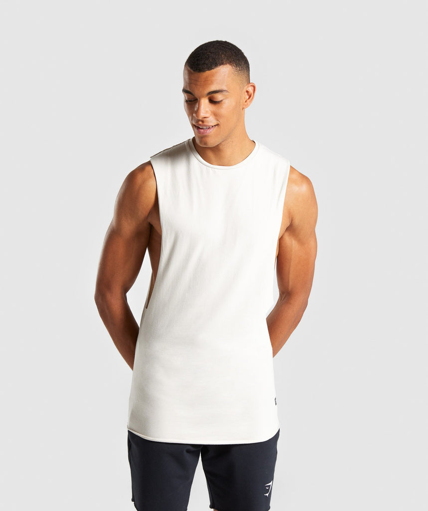 Gymshark Eaze Sleeveless T-Shirt - Washed Beige 1