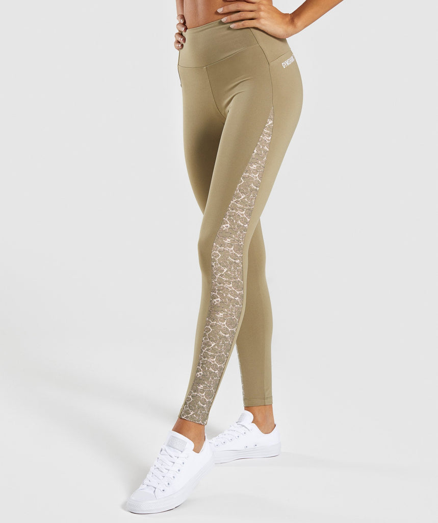 Gymshark Efflux Leggings - Washed Khaki 1