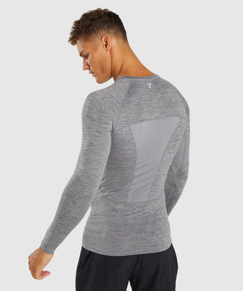 Gymshark Element+ Baselayer Long Sleeve Top - Smokey Grey Marl 4