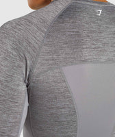Gymshark Element+ Baselayer Long Sleeve Top - Smokey Grey Marl 12