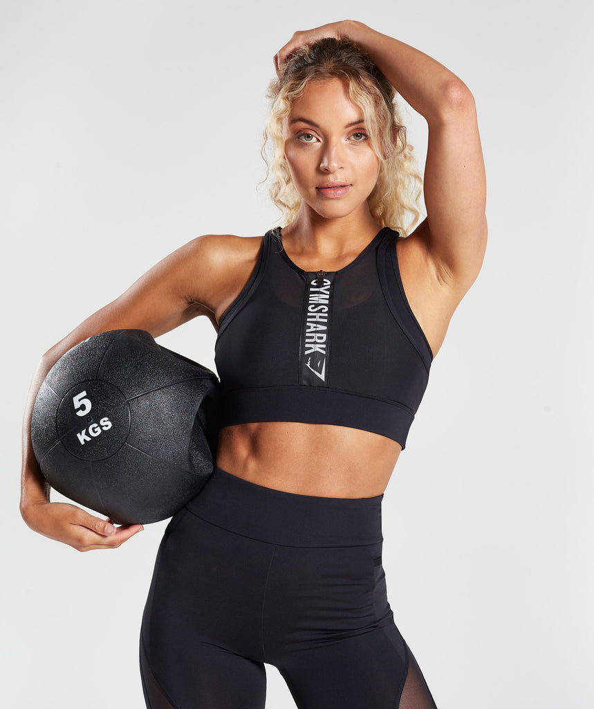 Gymshark Elevate Sports Bra - Black 1