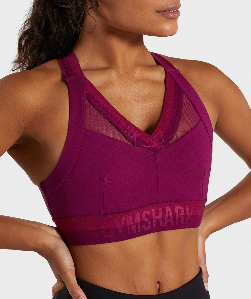Gymshark Empower Sports Bra - Deep Plum 5